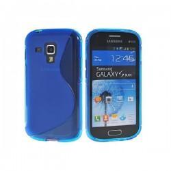 Silikon etui za Samsung Galaxy S Duos, Galaxy Trend +Folija ekrana , Modra barva