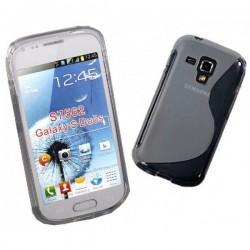 Silikon etui za Samsung Galaxy S Duos, Galaxy Trend +Folija ekrana , Transparent