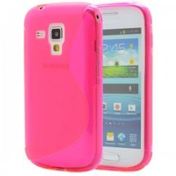 Silikon etui za Samsung Galaxy S Duos, Galaxy Trend +Folija ekrana , Pink barva
