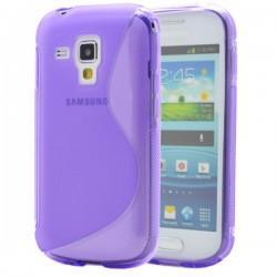 Silikon etui za Samsung Galaxy S Duos, Galaxy Trend +Folija ekrana , Vijola barva