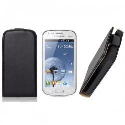 Torbica za Samsung Galaxy S Duos, Galaxy Trend, Preklopna ,Črna barva +folija ekrana