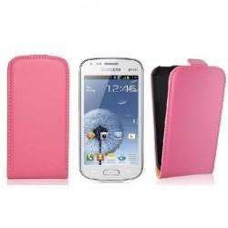 Torbica za Samsung Galaxy S Duos, Galaxy Trend, Preklopna ,Pink barva +folija ekrana
