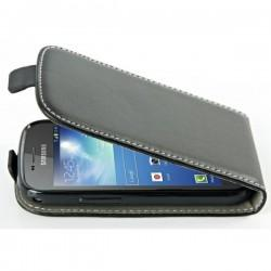 Torbica za Samsung Galaxy S Duos, Galaxy Trend, Preklopna TPU ,Črna barva +folija ekrana