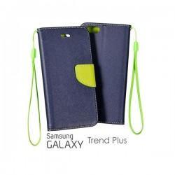 Preklopna Torbica Fancy za Samsung Galaxy S Duos, Galaxy Trend, Modra barva