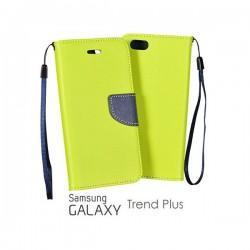 Preklopna Torbica Fancy za Samsung Galaxy S Duos, Galaxy Trend, Zelena barva