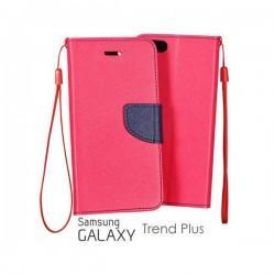 Preklopna Torbica Fancy za Samsung Galaxy S Duos, Galaxy Trend, Pink barva