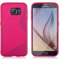 Silikon etui za Samsung Galaxy S6, Pink barva