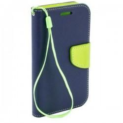 Preklopna Torbica Fancy za Sony Xperia Z1, Modra barva