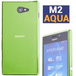 Silikon etui za Sony Xperia M2 Aqua, zelena barva+ folija ekrana