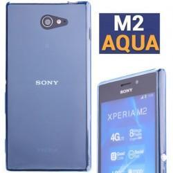 Silikon etui za Sony Xperia M2 Aqua, modra barva+ folija ekrana