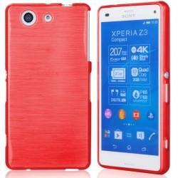 Silikon etui za Sony Xperia Z3 Compact +Folija ekrana, Rdeča barva