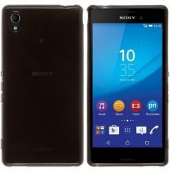 Silikon etui za Sony Xperia M4 Aqua +Folija ekrana, Transparent temna