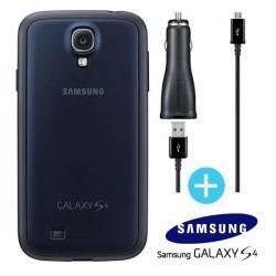 Original Pokrovček za Samsung Galaxy S4 +Avtopolnilec, temno modra barva