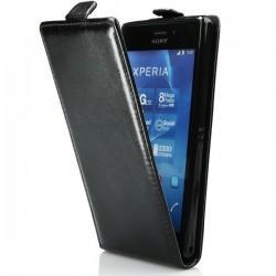 Preklopna Torbica Flexi za Sony Xperia M4 Aqua, črne barve
