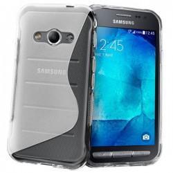 Silikon etui za Samsung Galaxy Xcover 3, Transparent barva+ folija ekrana