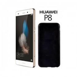 Silikon etui za Huawei Ascend P8, 0,5mm, Črna barva