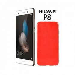 Silikon etui za Huawei Ascend P8, 0,5mm, Rdeča barva