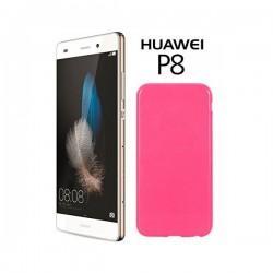 Silikon etui za Huawei Ascend P8, 0,5mm, Pink barva