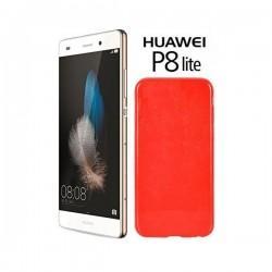 Silikon etui za Huawei Ascend P8 Lite, 0,5mm, Rdeča barva