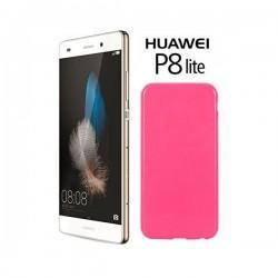 Silikon etui za Huawei Ascend P8 Lite, 0,5mm, Pink barva