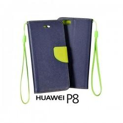 Preklopna Torbica Fancy za Huawei Ascend P8, Modra barva