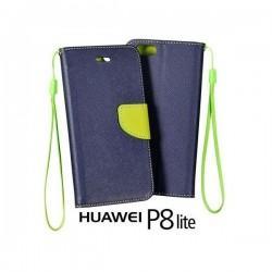 Preklopna Torbica Fancy za Huawei Ascend P8 Lite, Modra barva
