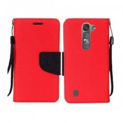Preklopna Torbica Fancy za LG G4C, Rdeča barva