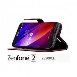 Preklopna Torbica Fancy za Asus Zenfone 2 ZE500CL, Rdeča barva