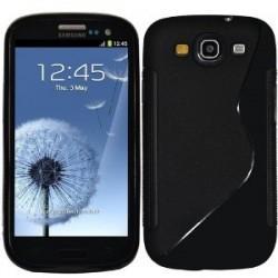 Silikonski tui za Samsung Galaxy S3, črna barva