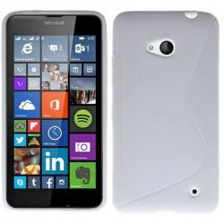 Silikon etui S za Microsoft Lumia 640 LTE, Bela barva