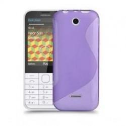 Silikon etui za Nokia 225 +Folija ekrana, Viola barva