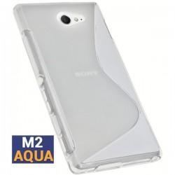 Silikon etui S za Sony Xperia M2 Aqua, Transparent barva