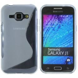 Silikon etui S za Samsung Galaxy J1, Transparent barva