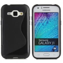 Silikon etui S za Samsung Galaxy J1, Črna barva