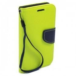 Preklopna Torbica Fancy za LG F60, Zelena barva
