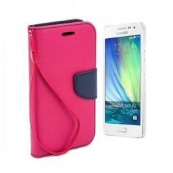 Preklopna Torbica Fancy za Samsung Galaxy A3, Pink barva