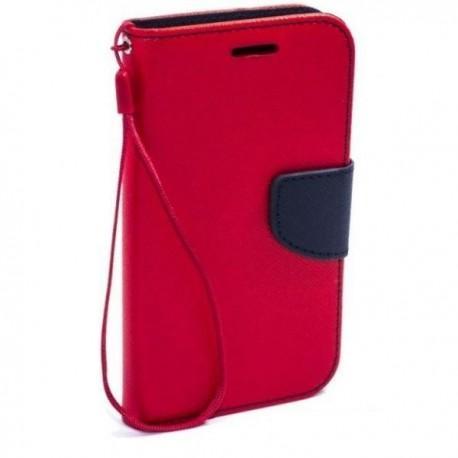 Preklopna Torbica Fancy za Samsung Galaxy Grand Prime, Rdeča barva