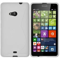 Silikon etui S za Microsoft Lumia 535, Bela barva +folija zaslona