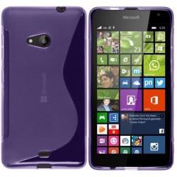 Silikon etui S za Microsoft Lumia 535, Vijola barva +folija zaslona
