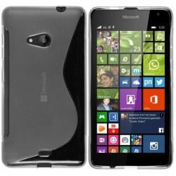 Silikon etui S za Microsoft Lumia 535, Transparent barva +folija zaslona