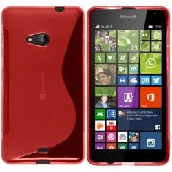 Silikon etui S za Microsoft Lumia 535, Rdeča barva +folija zaslona