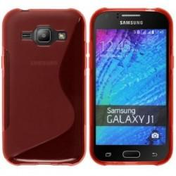 Silikon etui S za Samsung Galaxy J1, Rdeča barva