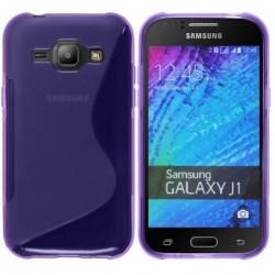 Silikon etui S za Samsung Galaxy J1, Vijola barva