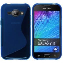 Silikon etui S za Samsung Galaxy J1, Modra barva