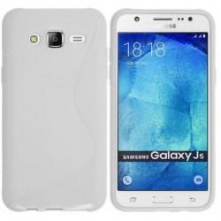 Silikon etui S za Samsung Galaxy J5, Bela barva