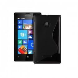 Silikon etui S za Microsoft Lumia 532 Dual, Črna barva