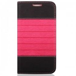 "Torbica ""stripes"" za Samsung Galaxy J5, Črna pink barva"