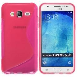 Silikon etui S za Samsung Galaxy J5, Pink barva