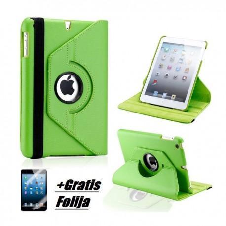 Torbica za Apple iPad Mini, Vrtljiva 360 +Folija ekrana, Zelena barva