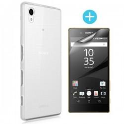 Silikonski etui za Sony Xperia Z5, debeline 0,3mm, Prozorna barva +zaščitna folija
